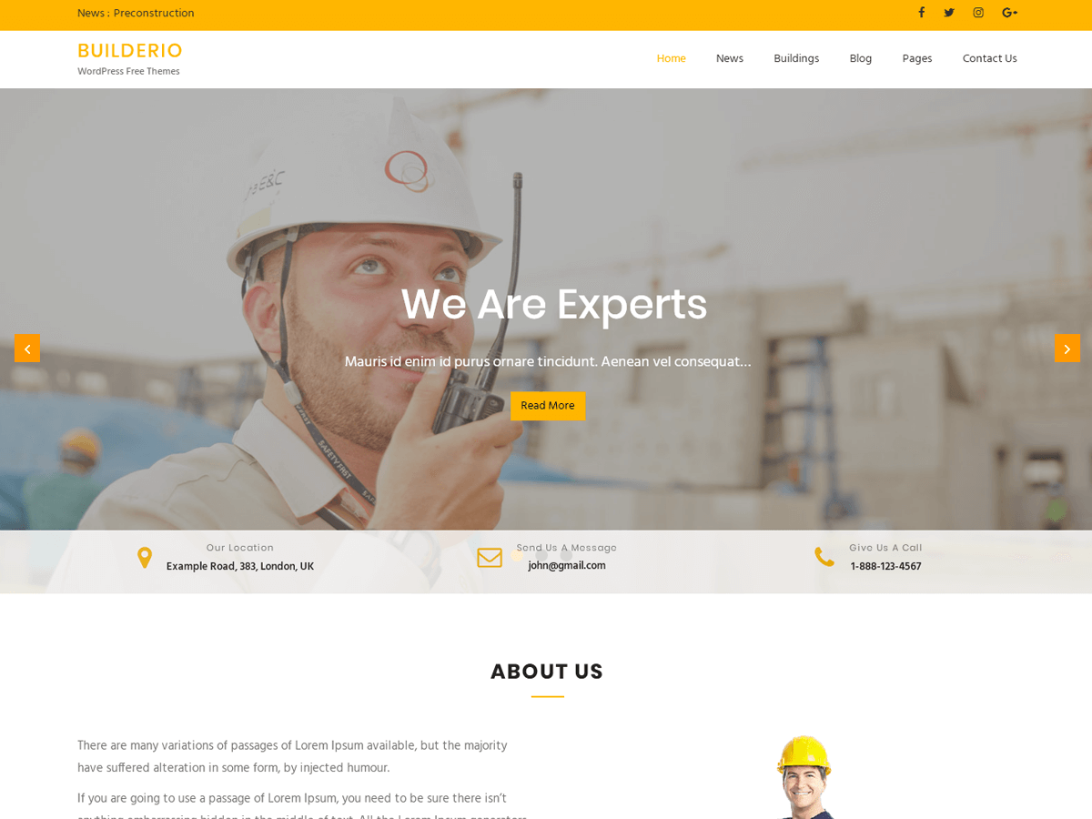 Builderio Download Free Wordpress Theme 1