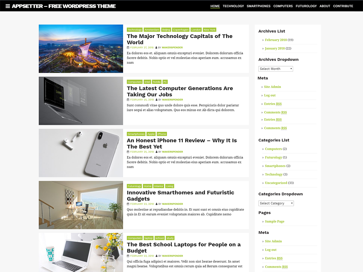 AppSetter Download Free Wordpress Theme 5