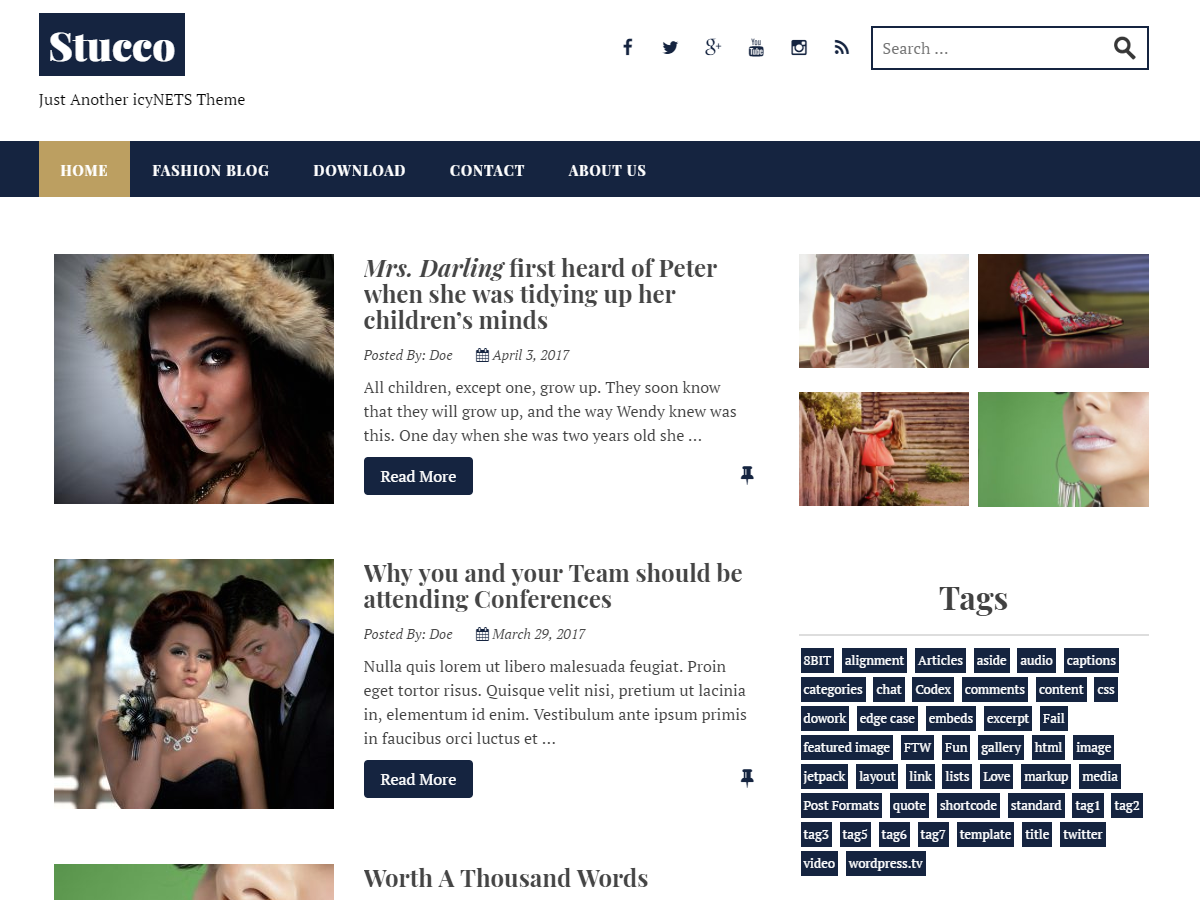 Stucco Download Free WordPress Theme