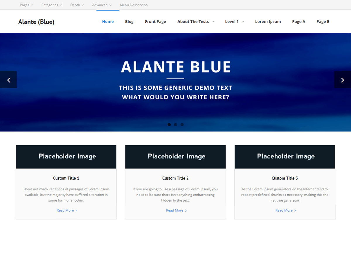 Alante Blue Download Free Wordpress Theme 1