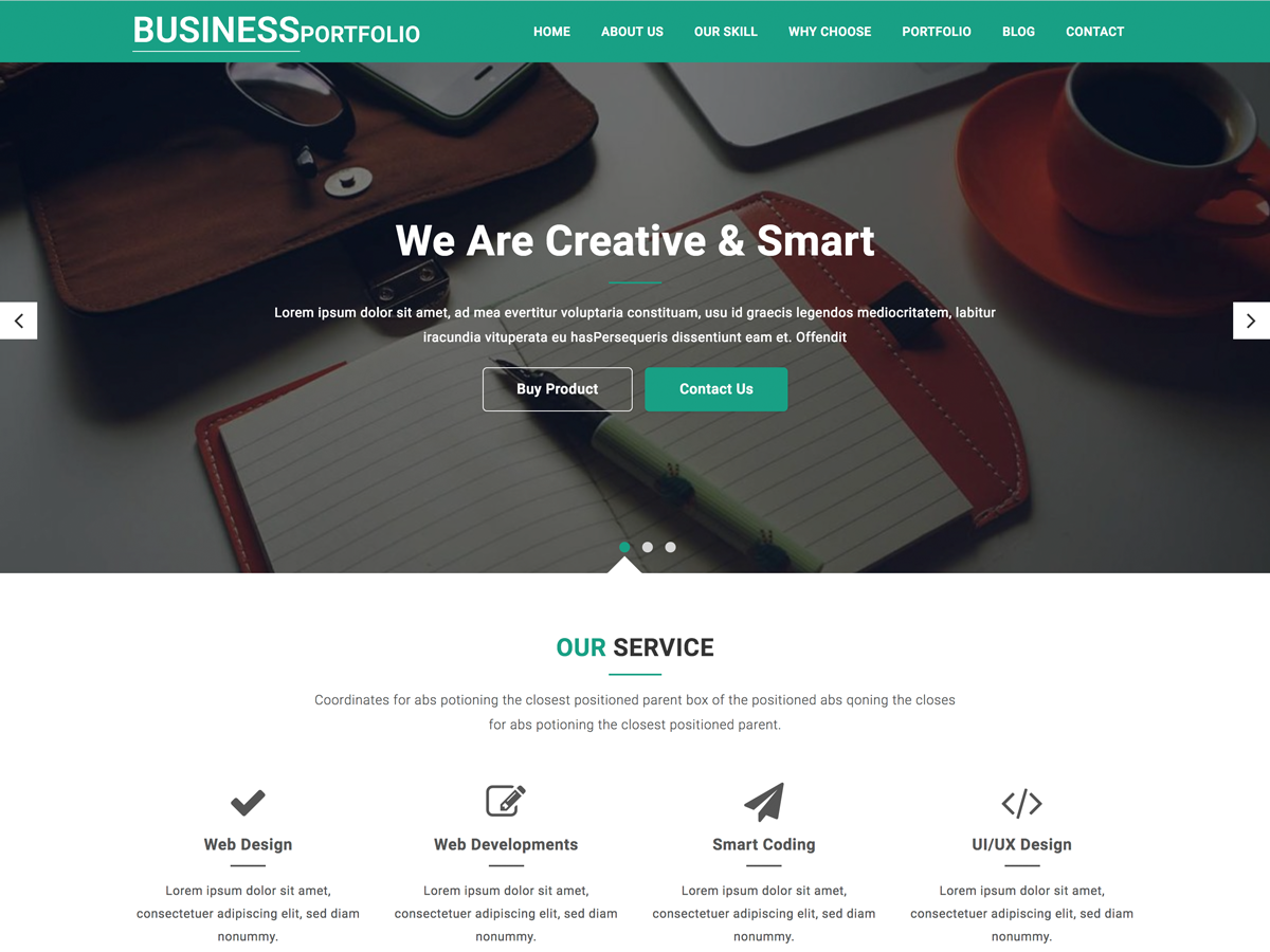Business Portfolio Download Free Wordpress Theme 3