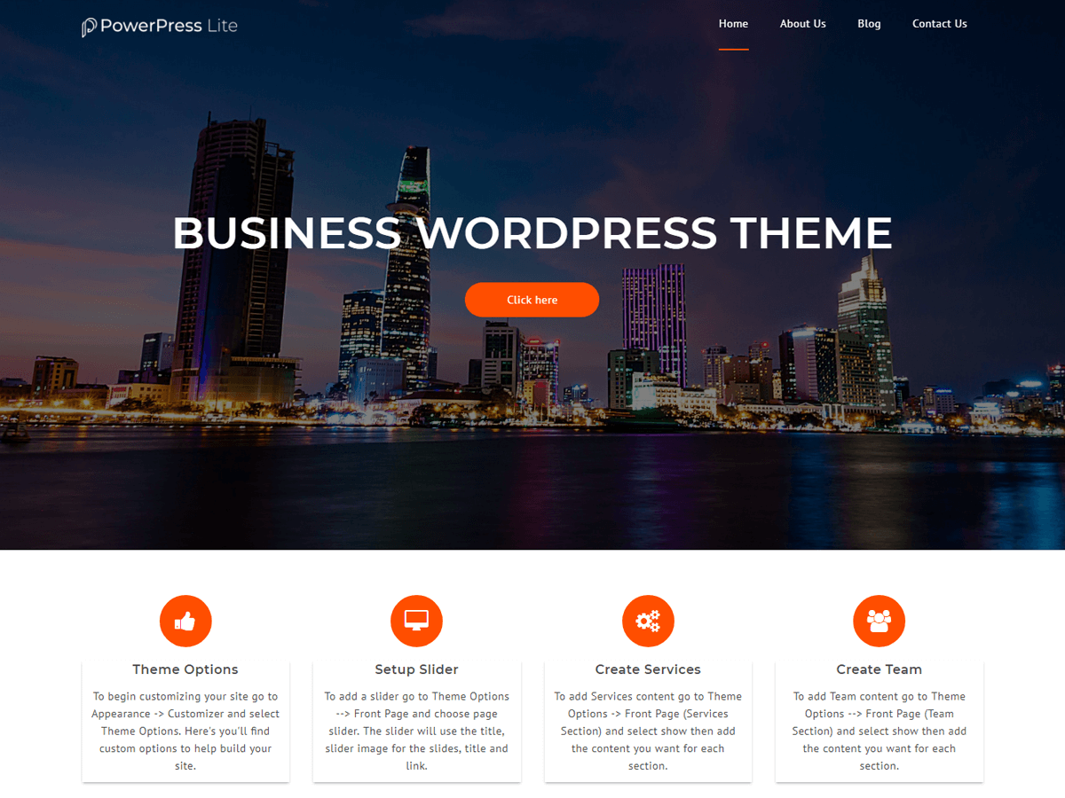 PowerPress Lite Download Free Wordpress Theme 4