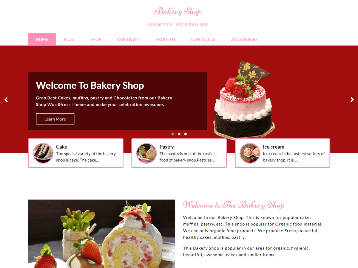 Bakery Shop Download Free Wordpress Theme 1
