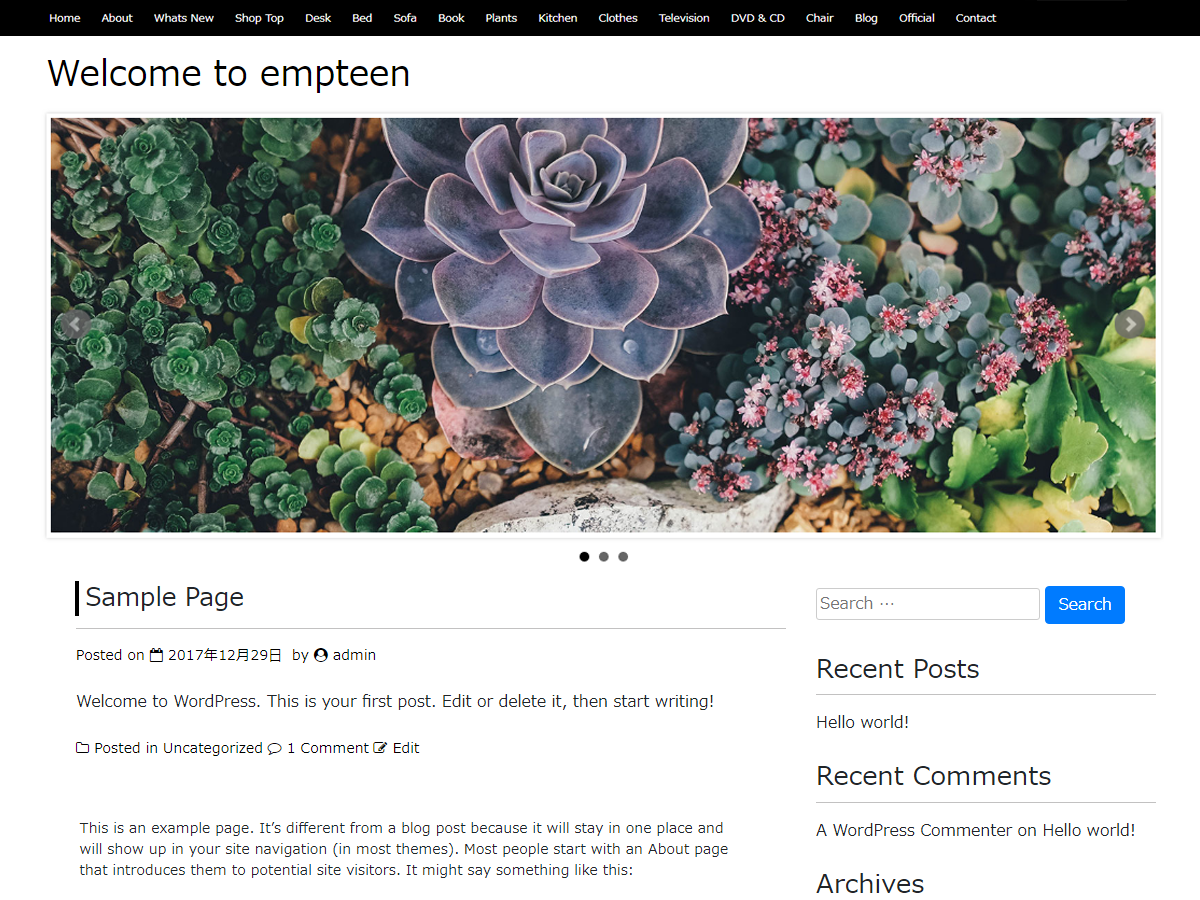 empteen Download Free Wordpress Theme 2