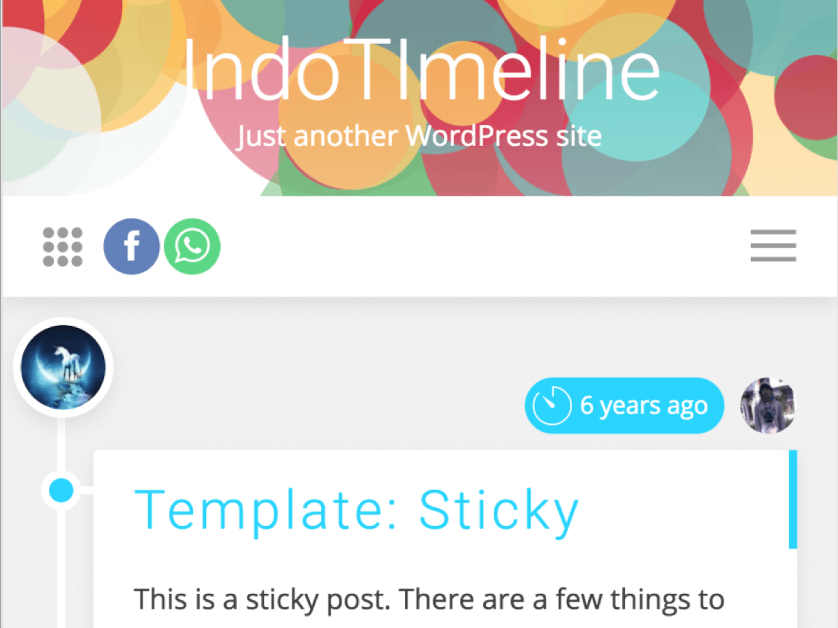IndoTimeline Download Free Wordpress Theme 2