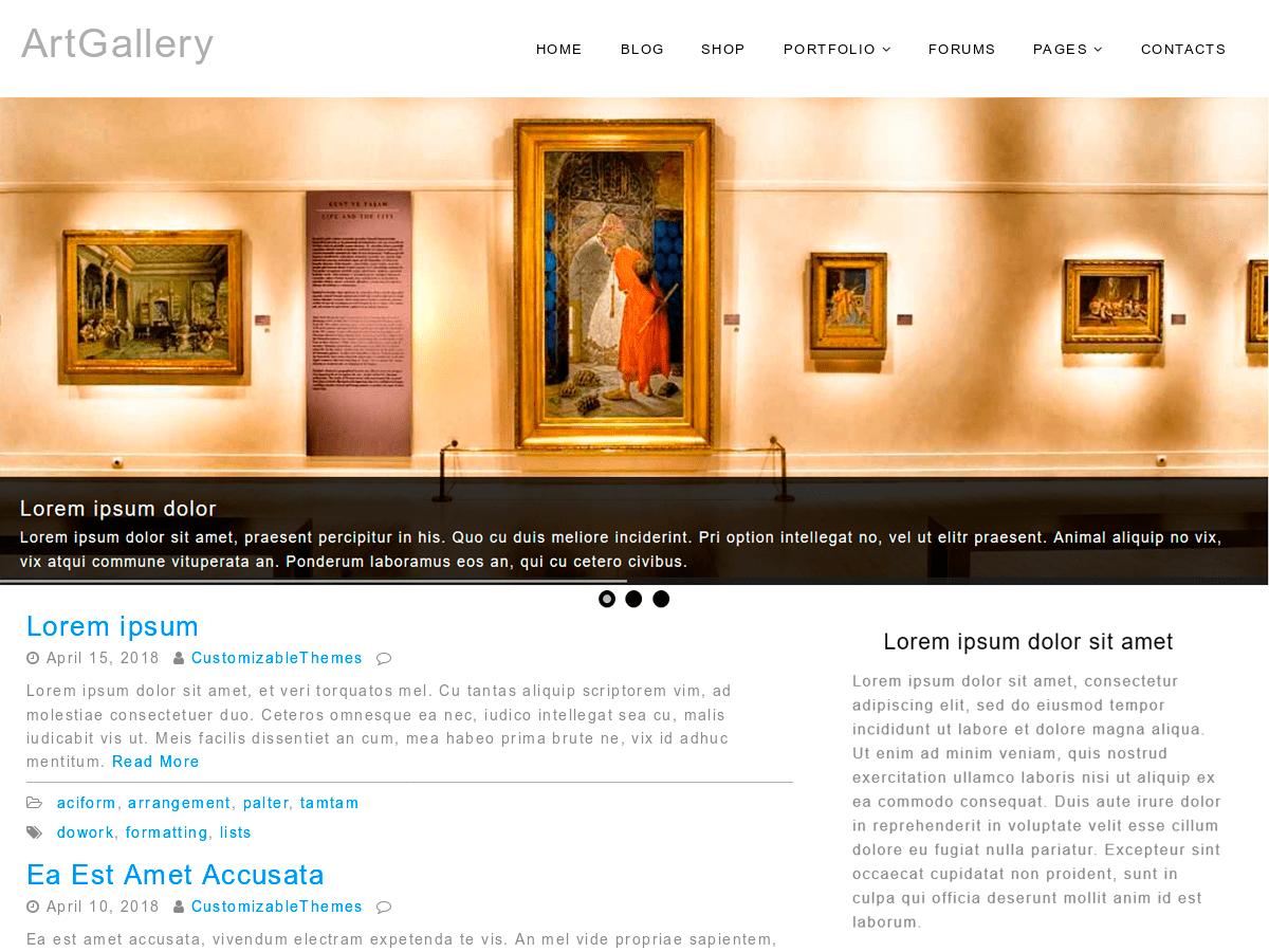 ArtGallery Download Free Wordpress Theme 2