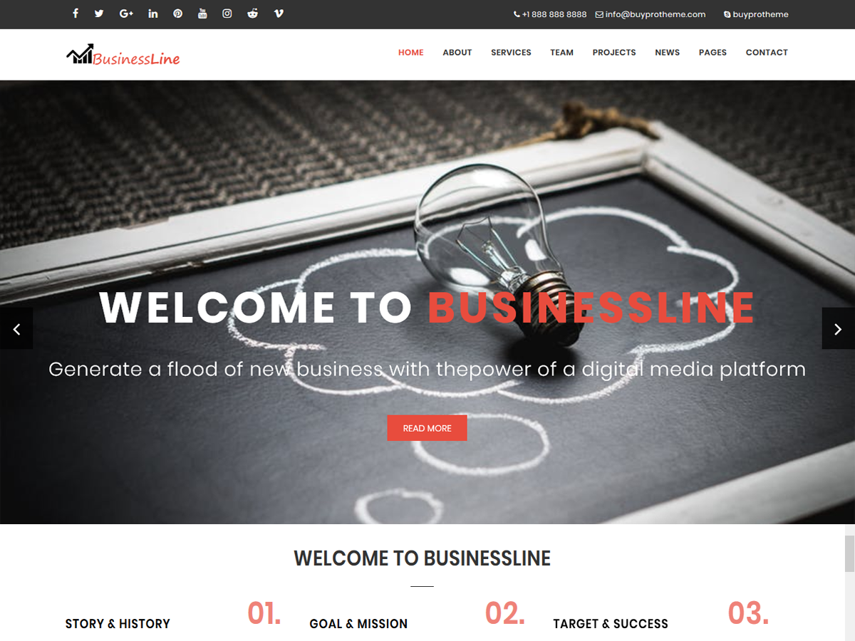 BPTBusinessLine Download Free Wordpress Theme 4