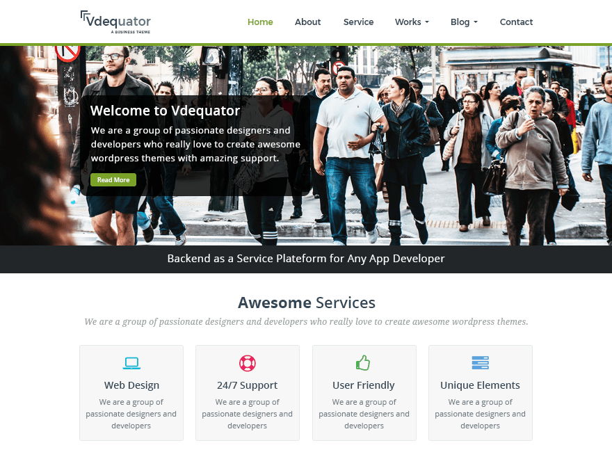 vdequator Download Free Wordpress Theme 5