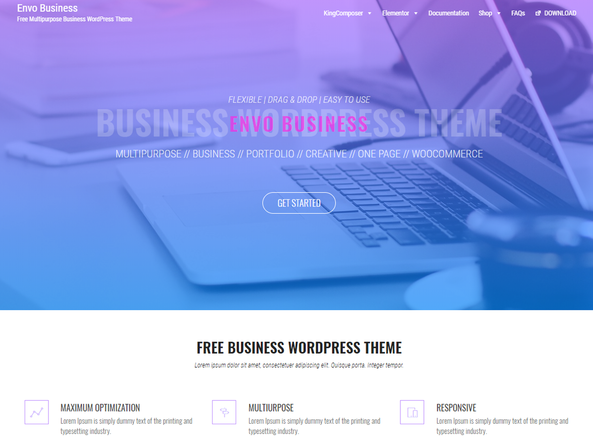 Envo Business Download Free Wordpress Theme 5