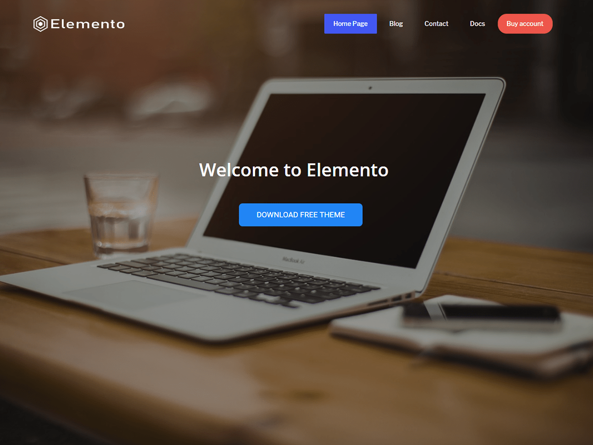 Elemento Download Free Wordpress Theme 2