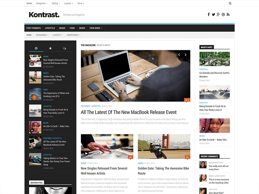 Kontrast Download Free Wordpress Theme 2