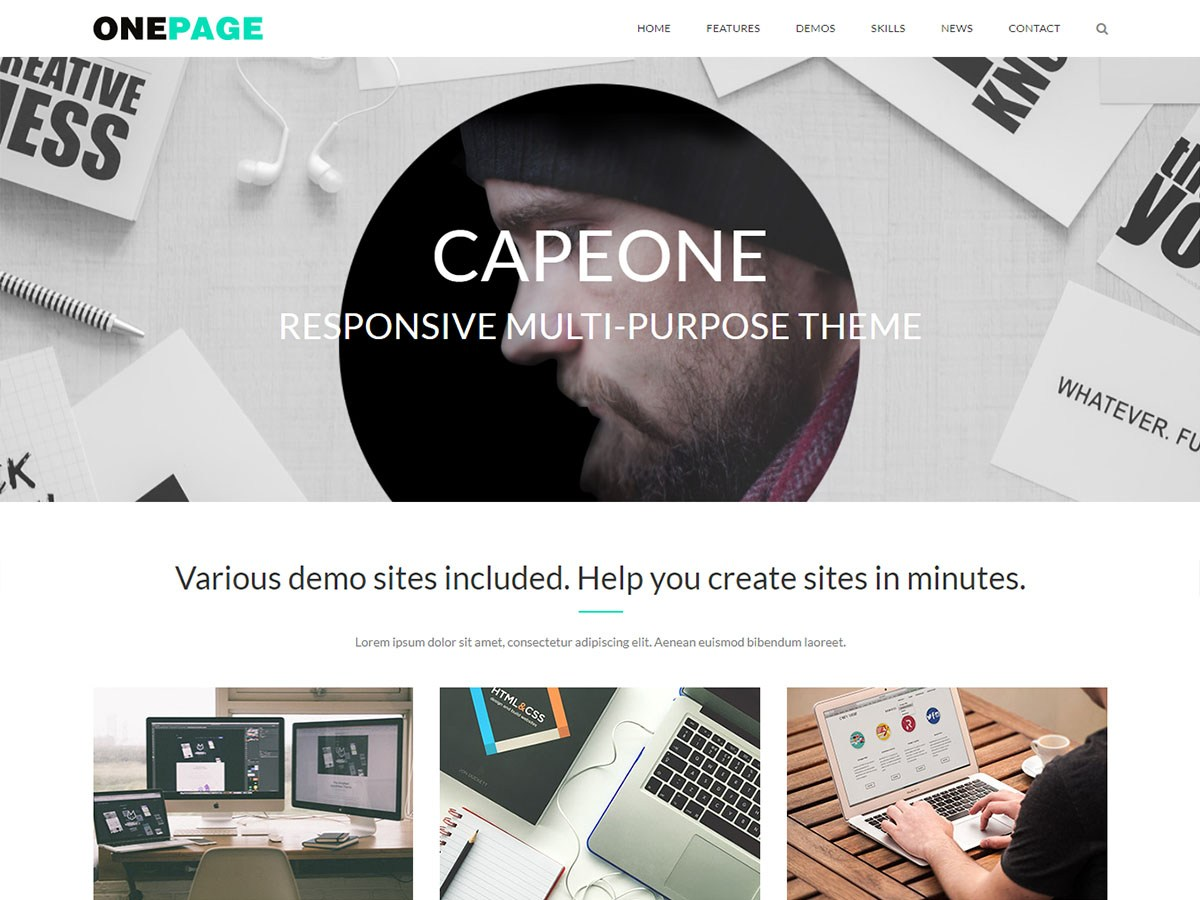 CapeOne Download Free Wordpress Theme 2