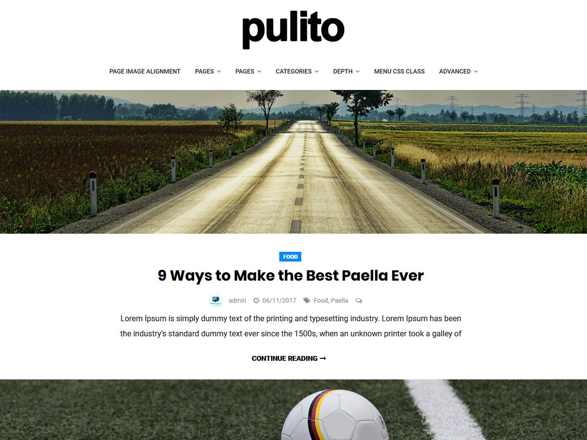 Pulito Clean Blog Lite Download Free Wordpress Theme 2