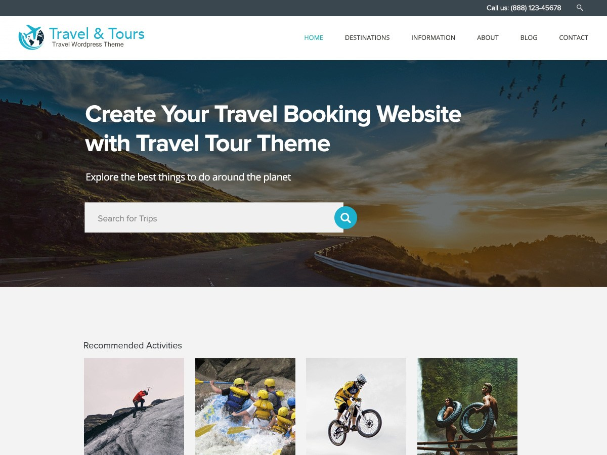 Travel Tour Download Free Wordpress Theme 2