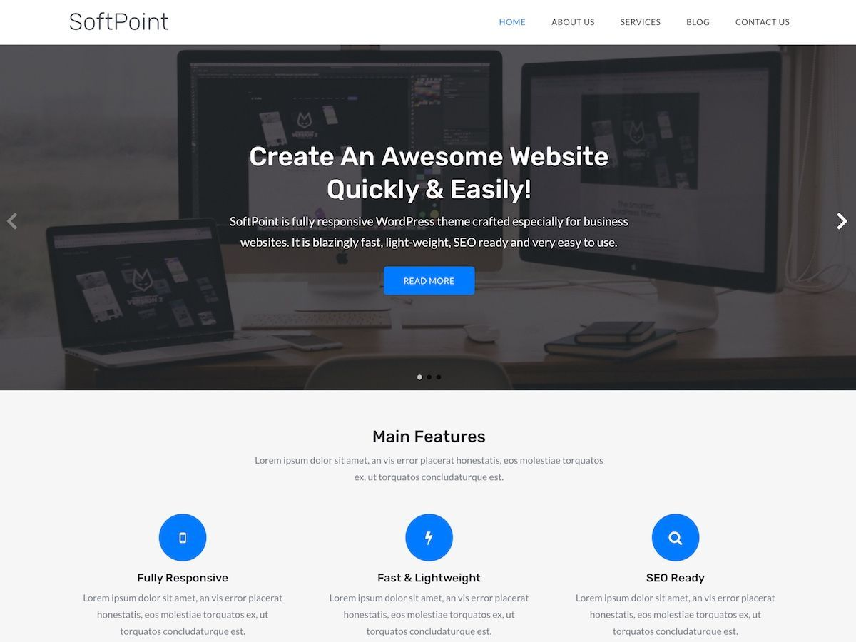 SoftPoint Download Free Wordpress Theme 4