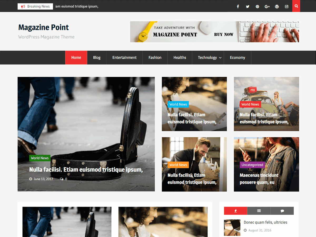Magazine Point Download Free Wordpress Theme 5