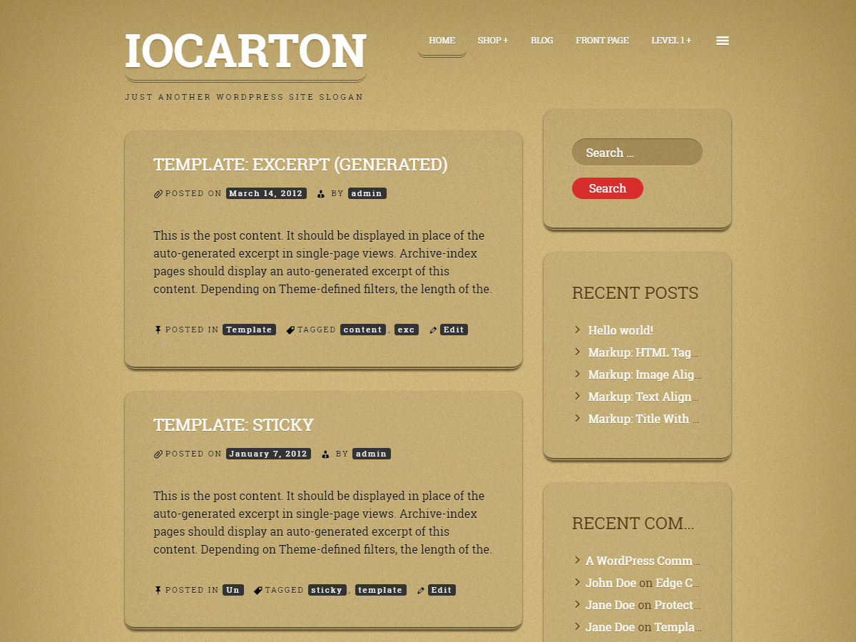 ioCarton Download Free Wordpress Theme 1