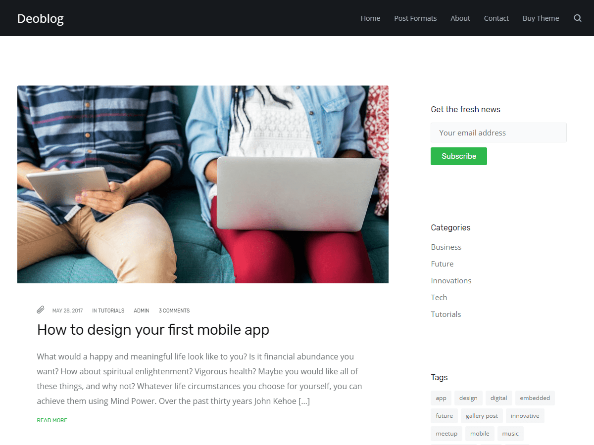 Deoblog Lite Download Free Wordpress Theme 3