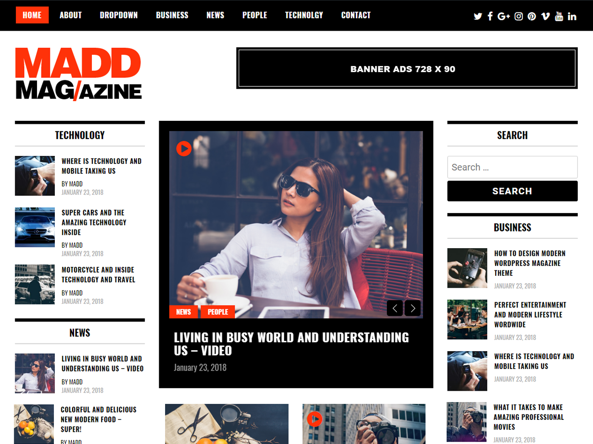 Madd Magazine Download Free Wordpress Theme 3