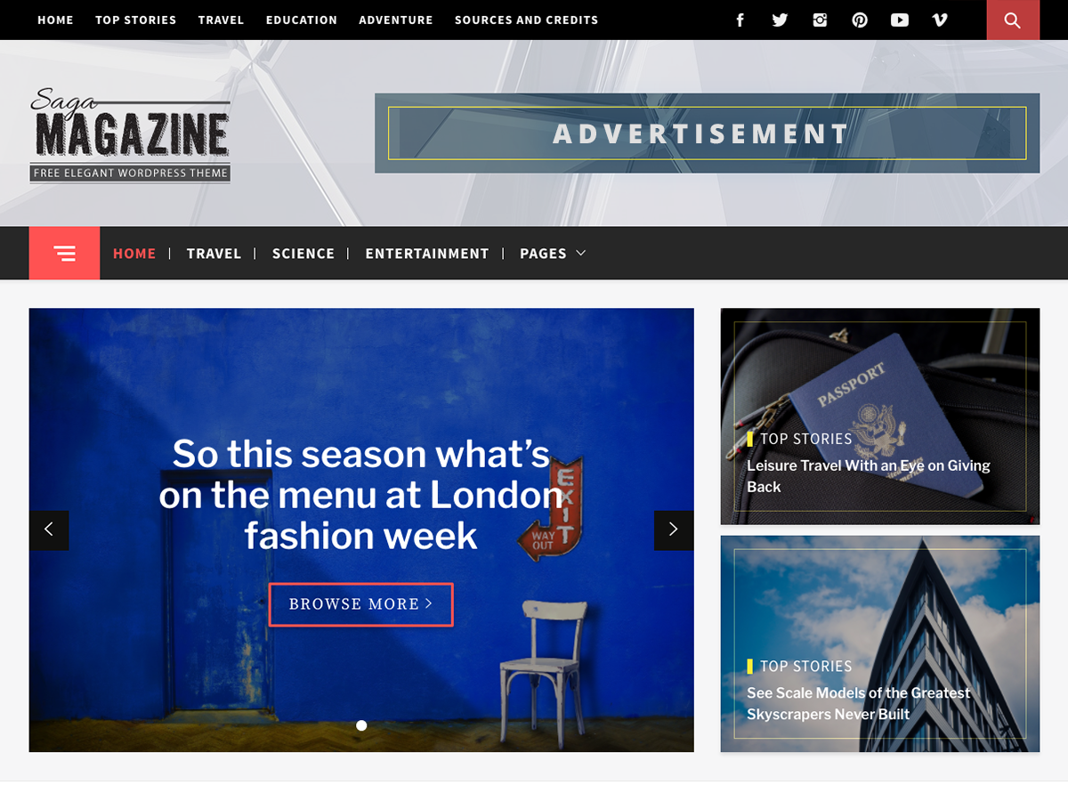 Magazine Saga Download Free Wordpress Theme 3
