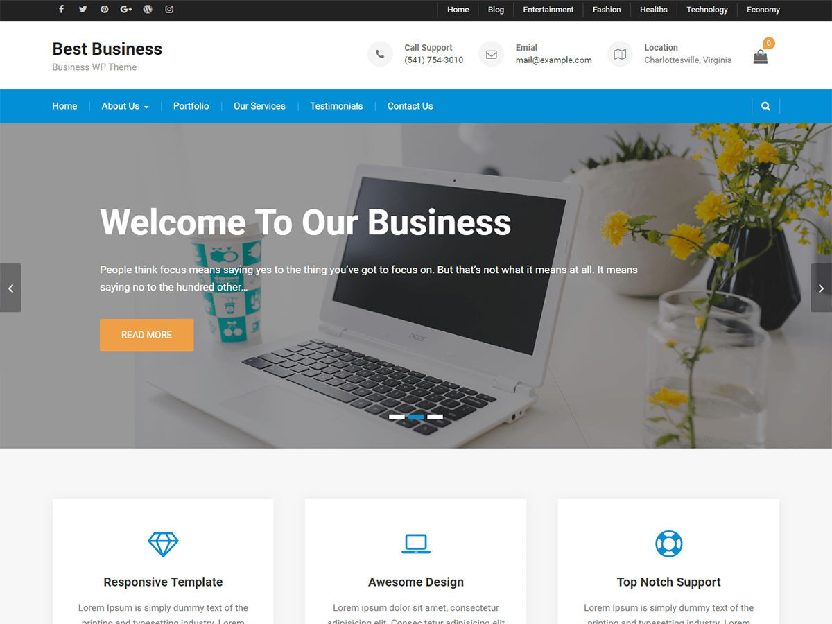 Best Business Download Free Wordpress Theme 4