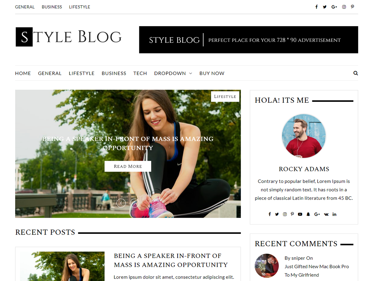 StyleBlog Download Free Wordpress Theme 1