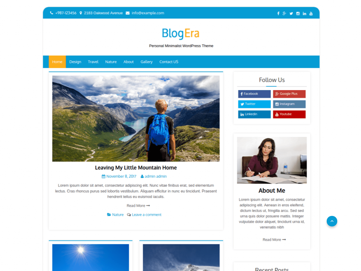 Blog Era Download Free Wordpress Theme 3