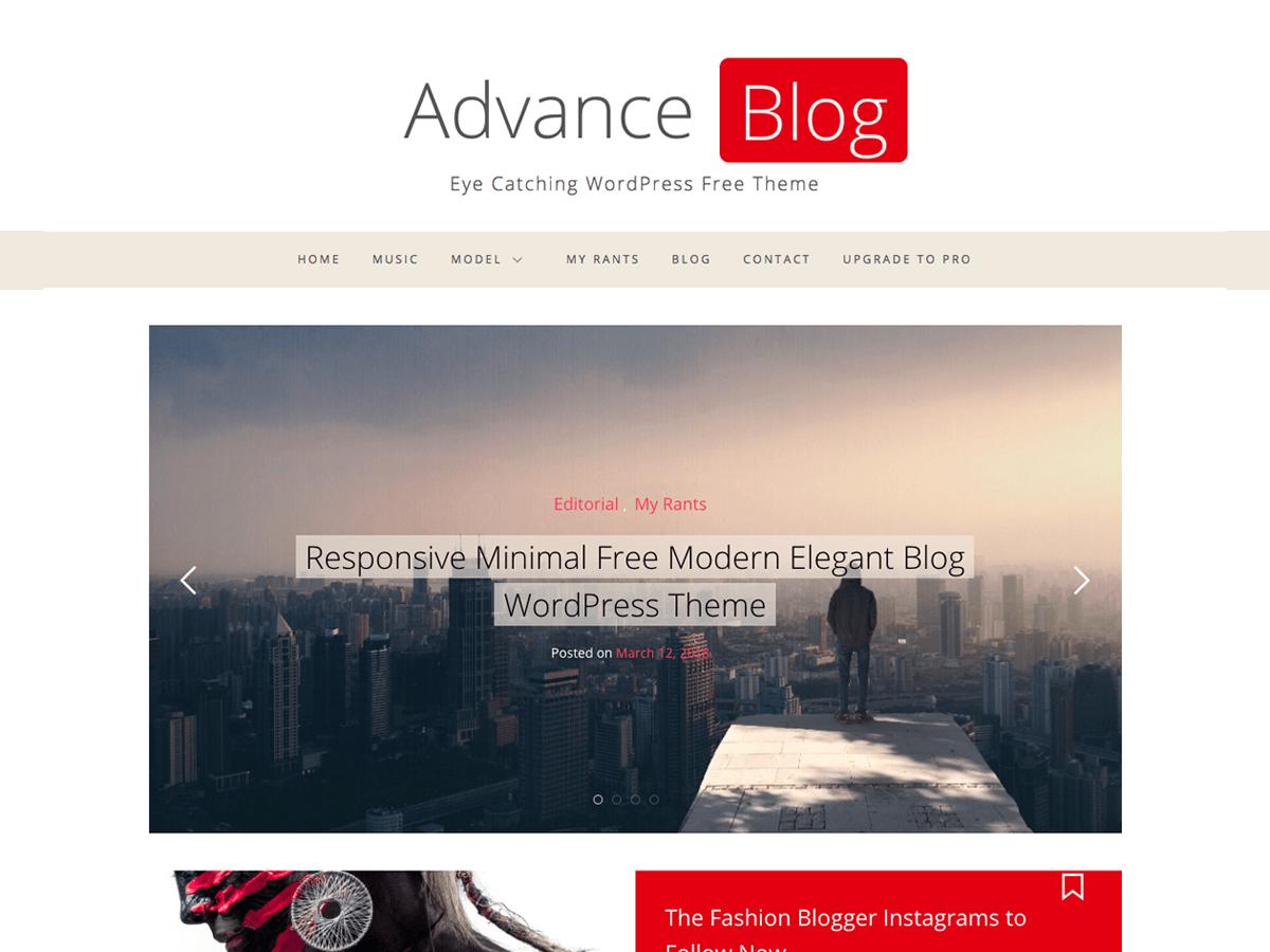 Advance Blog Download Free Wordpress Theme 3
