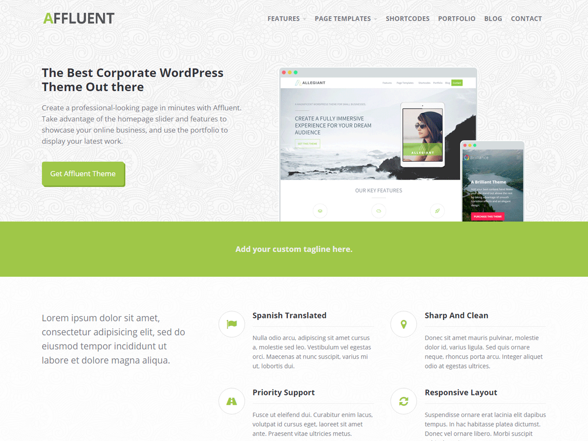 Affluent Download Free Wordpress Theme 1