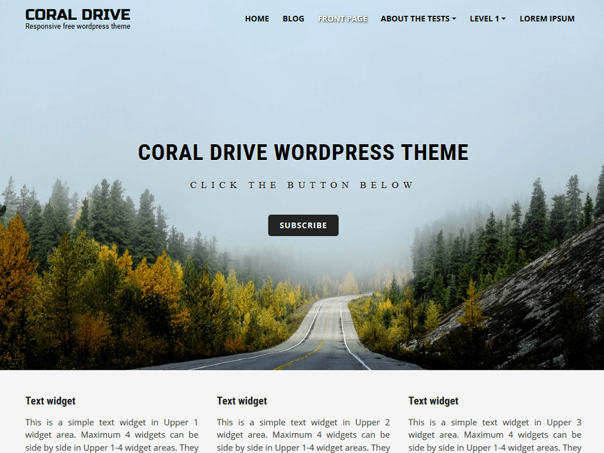 Coral Drive Download Free Wordpress Theme 3