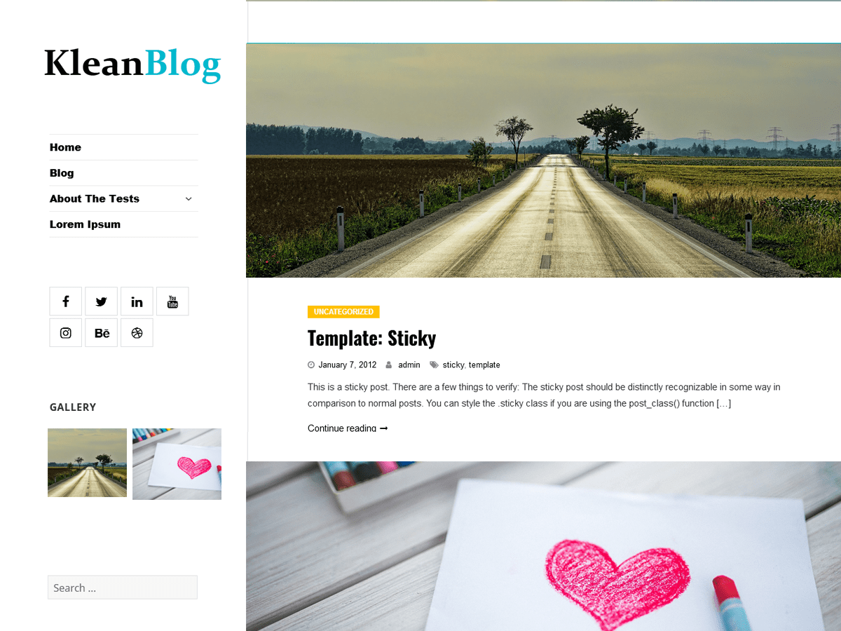 Klean Blog Download Free Wordpress Theme 5