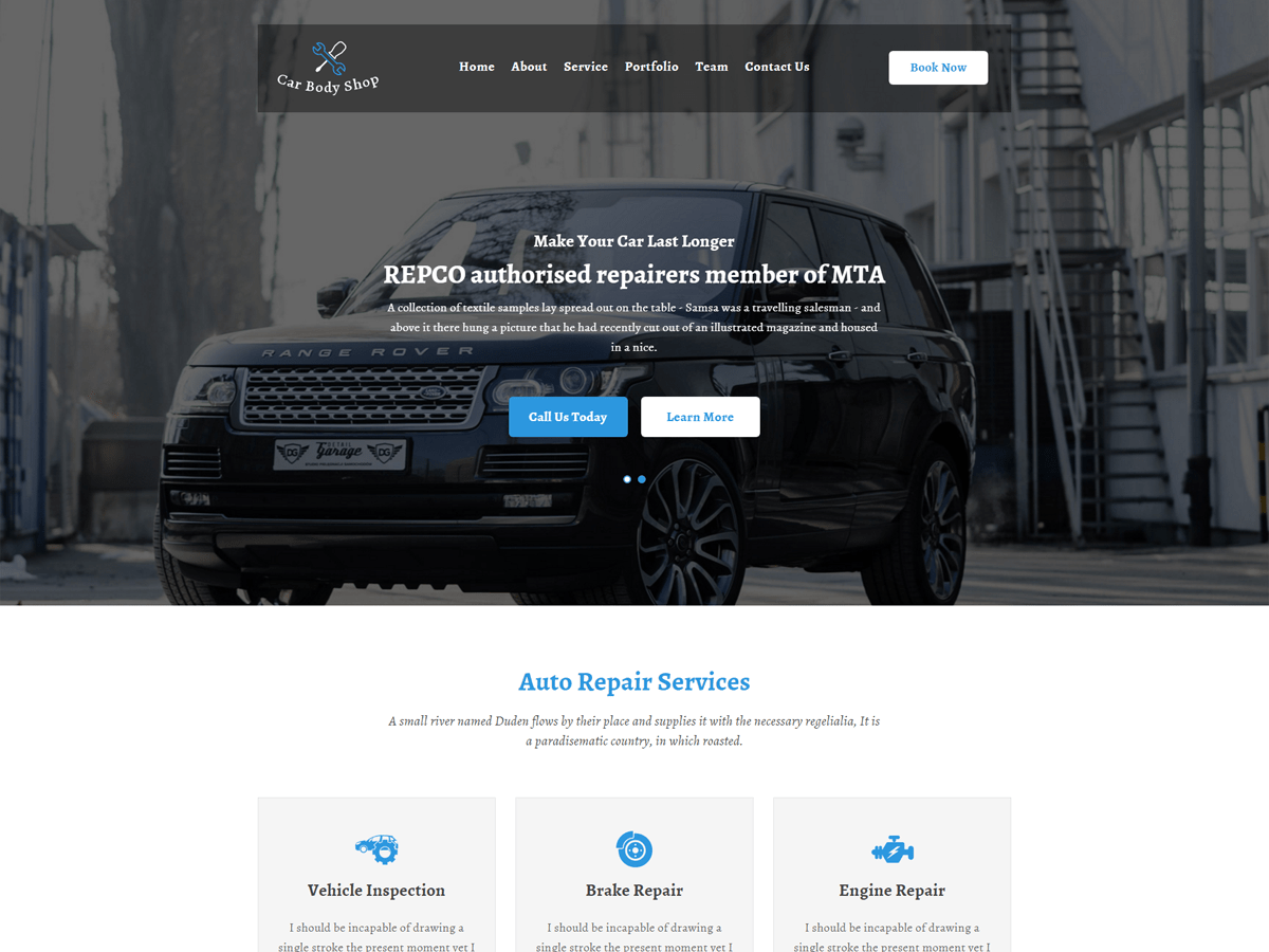 Carbody Download Free Wordpress Theme 2