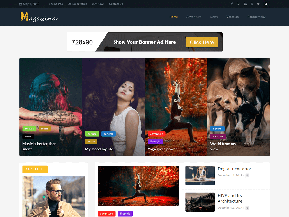 Magazina Download Free Wordpress Theme 3