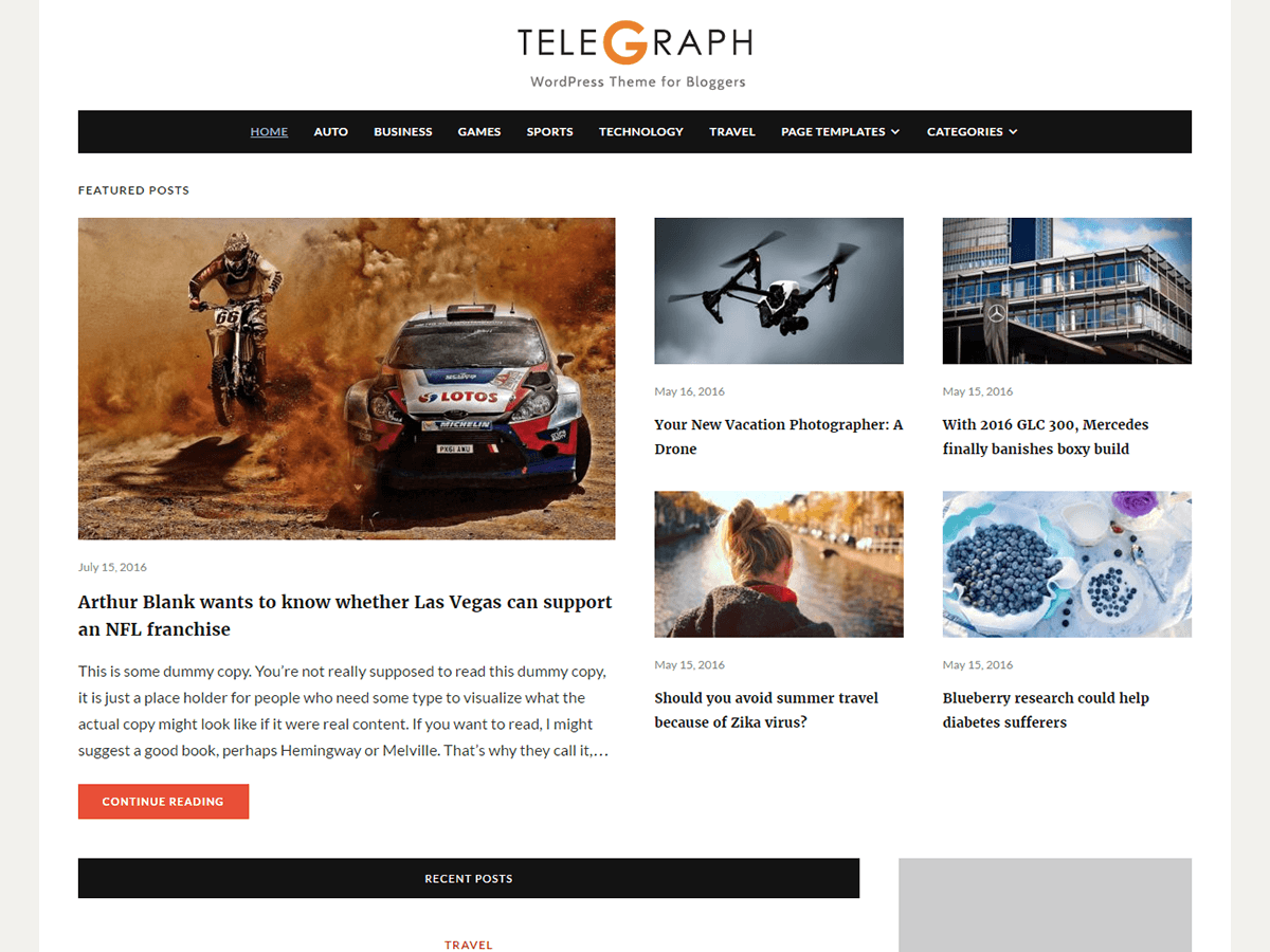 Telegraph Download Free Wordpress Theme 4