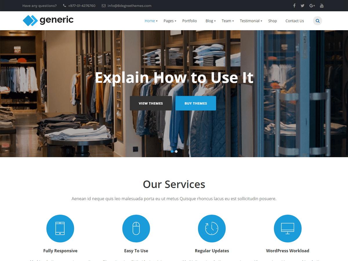 WP Generic Download Free Wordpress Theme 1