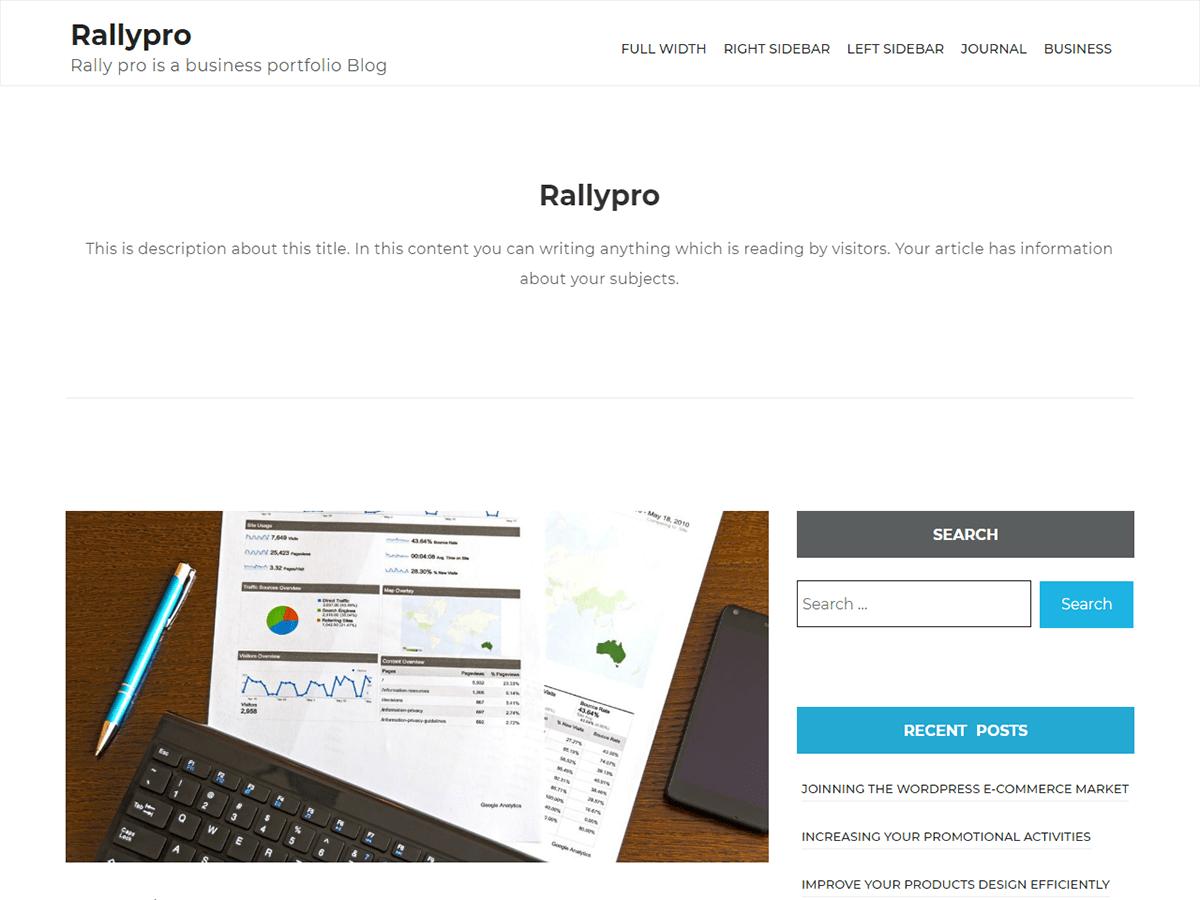 rallypro Download Free Wordpress Theme 2
