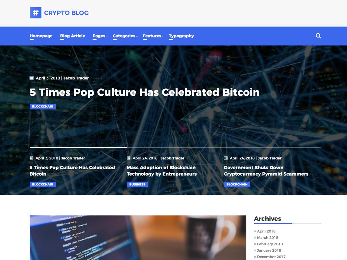 CryptoBlog Download Free Wordpress Theme 3
