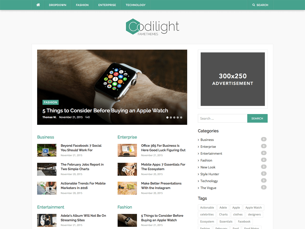 Codilight Lite Download Free Wordpress Theme 1