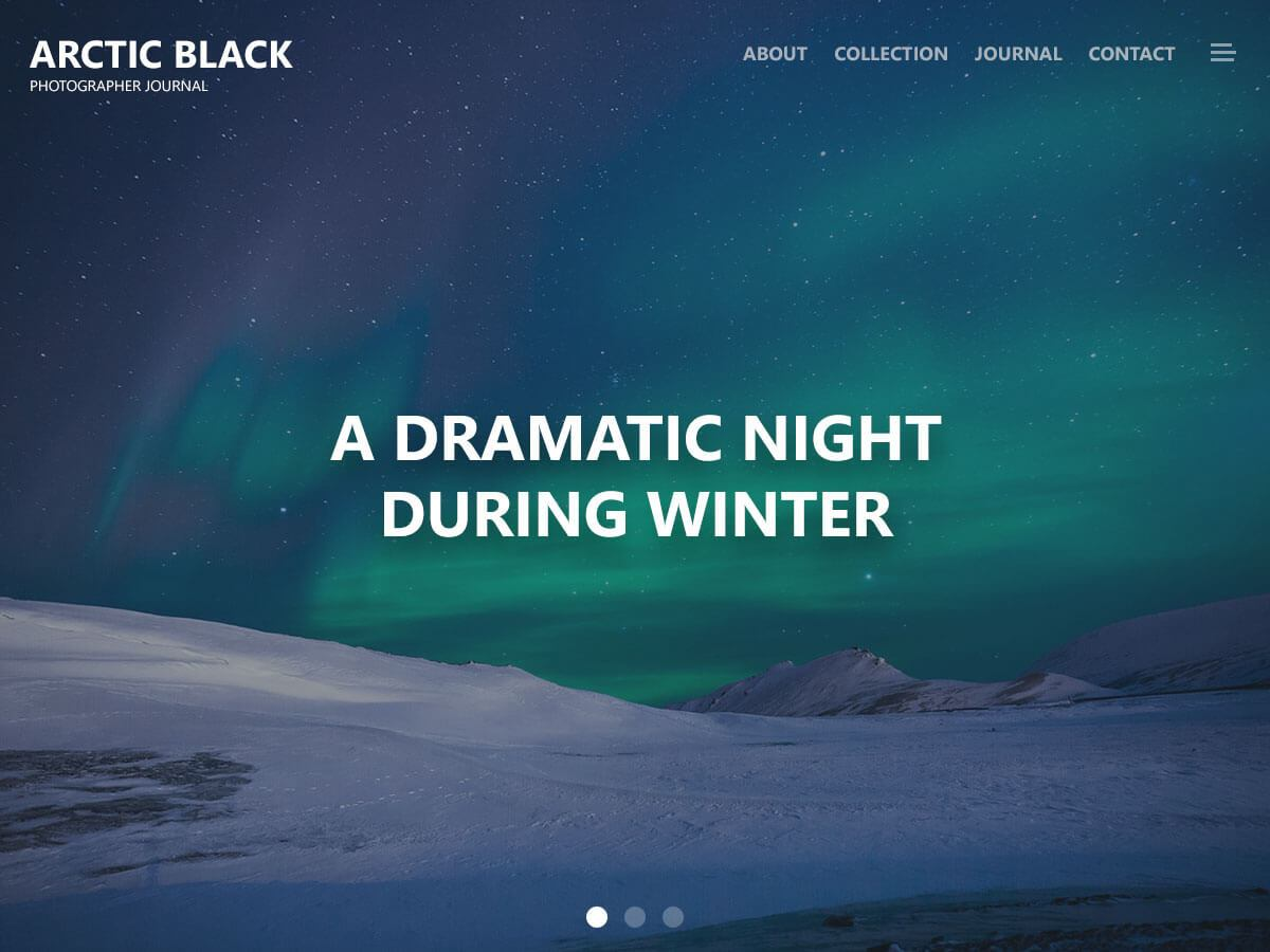 Arctic Black Download Free Wordpress Theme 1
