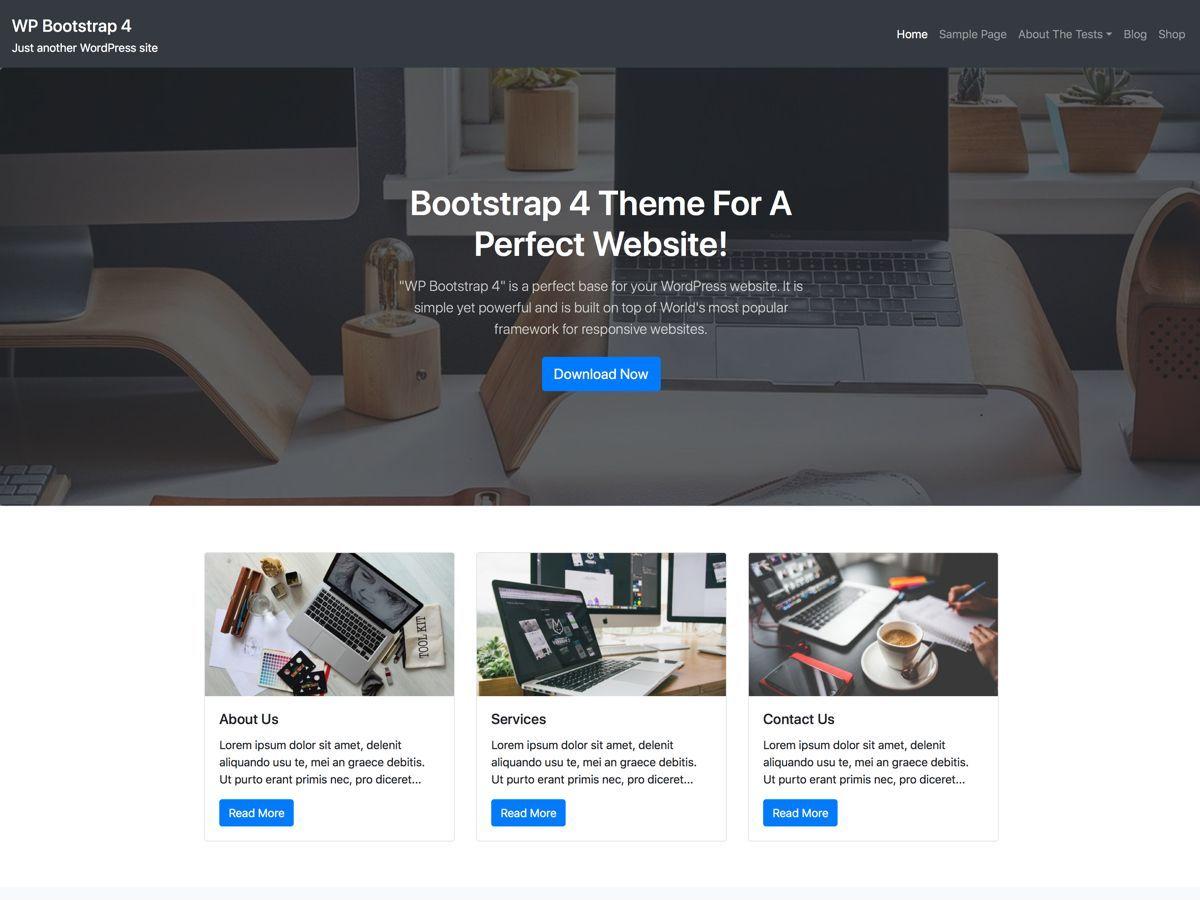 WP Bootstrap 4 Download Free Wordpress Theme 1