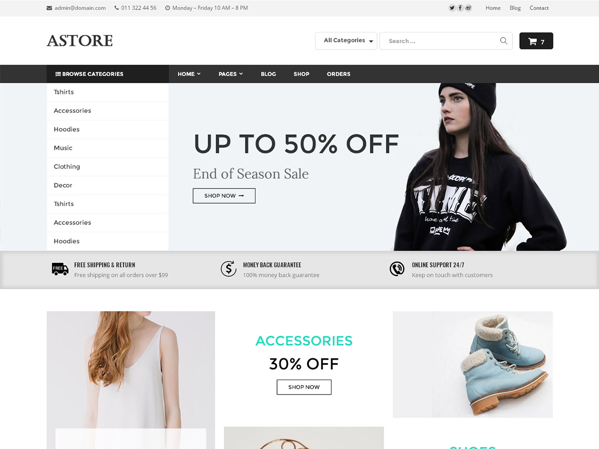 AStore Download Free Wordpress Theme 3