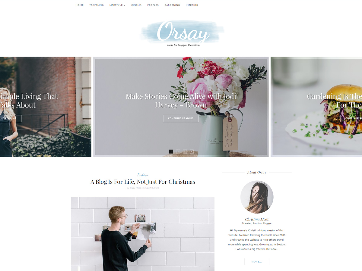 Orsay Download Free Wordpress Theme 1