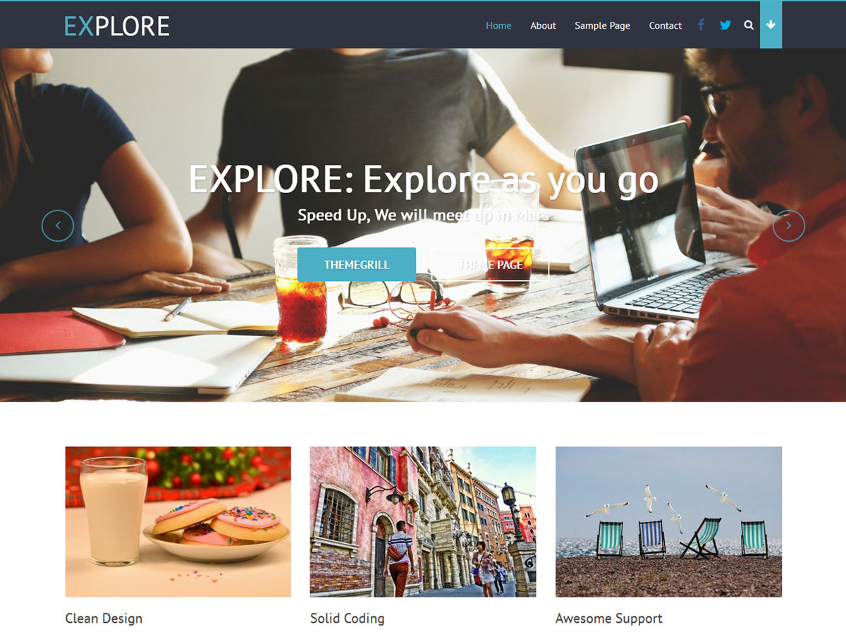 Explore Download Free Wordpress Theme 1