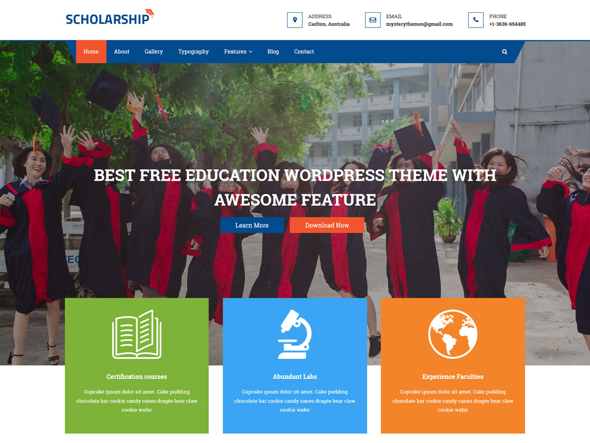 Scholarship Download Free Wordpress Theme 2