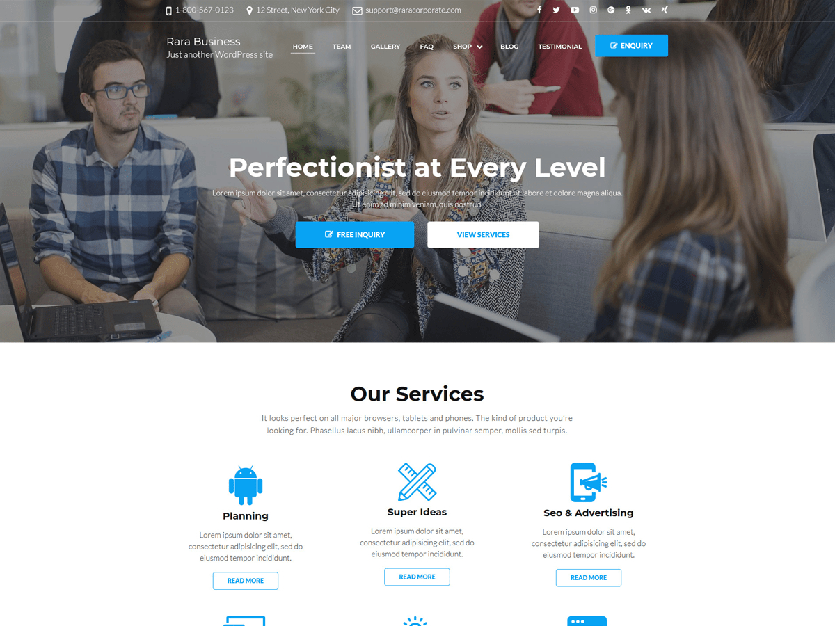 Rara Business Download Free Wordpress Theme 4