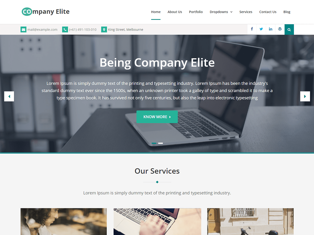 Company Elite Download Free Wordpress Theme 1