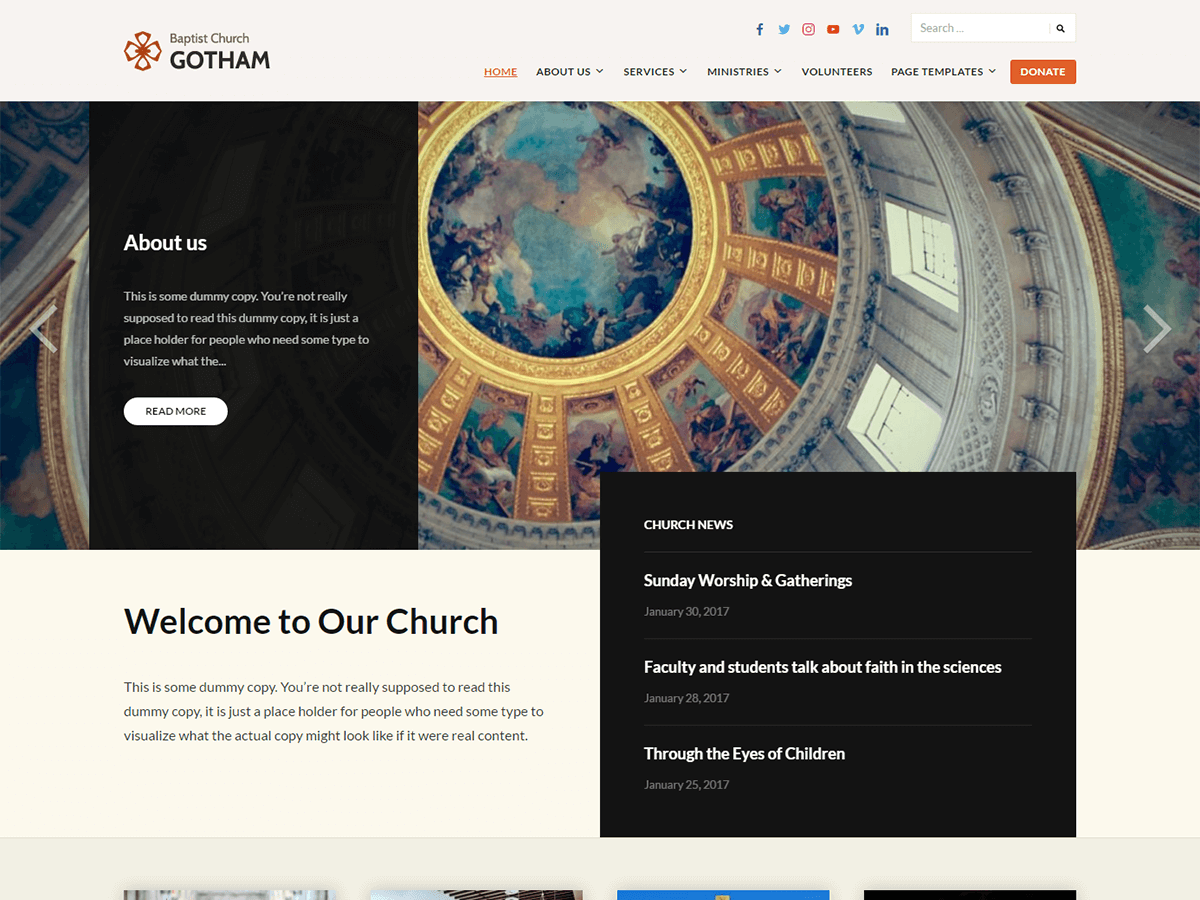 Faith Download Free Wordpress Theme 3