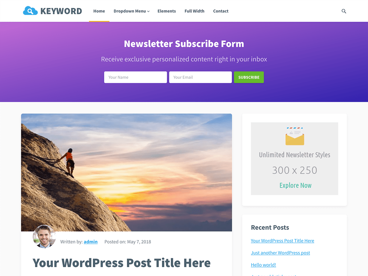 Keyword Download Free Wordpress Theme 3