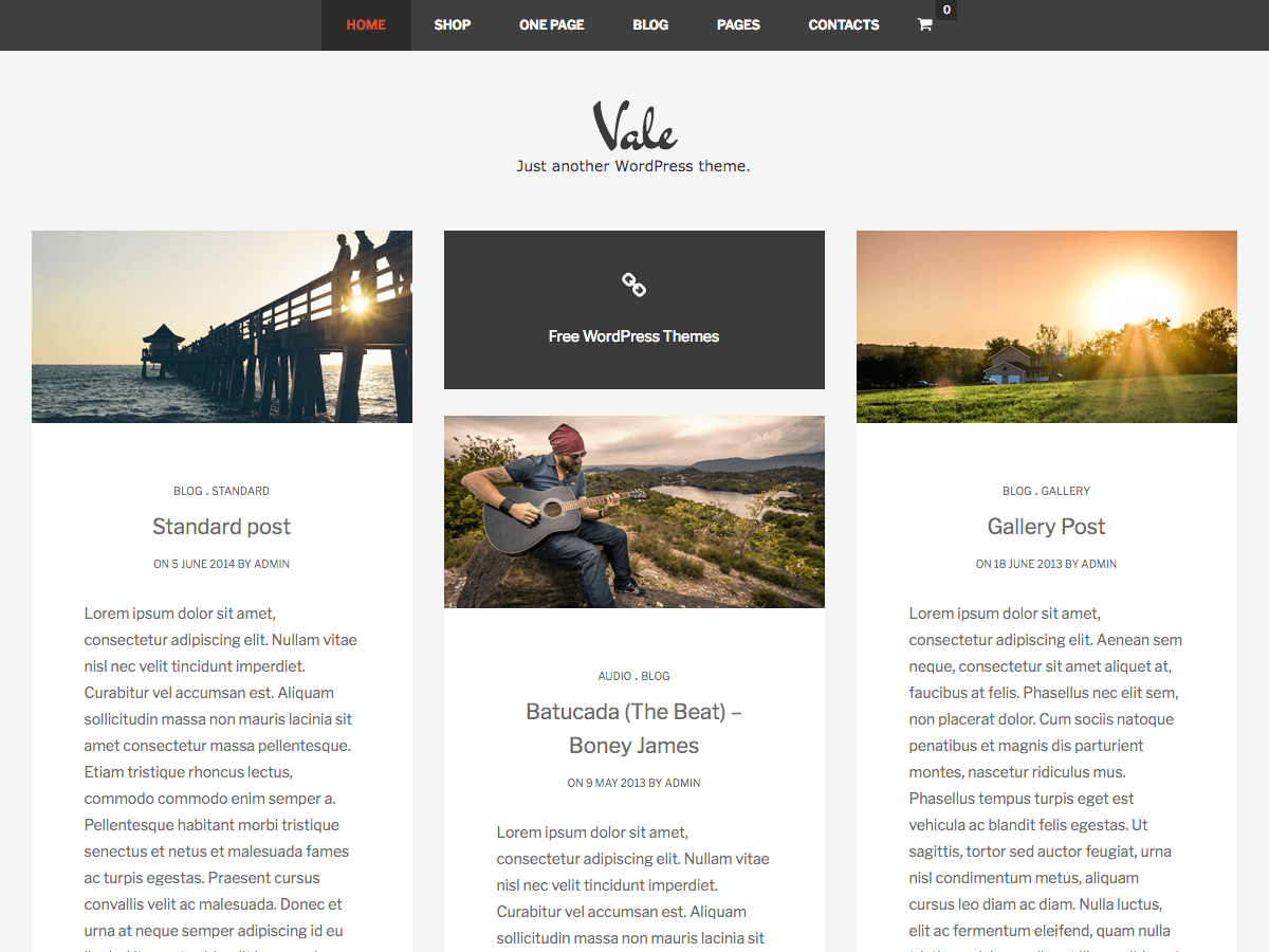 Vale Download Free Wordpress Theme 3