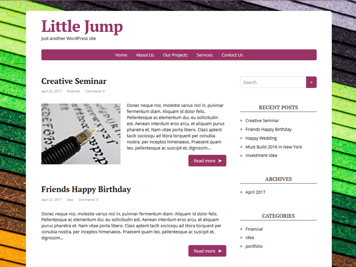 Little Jump Download Free Wordpress Theme 1
